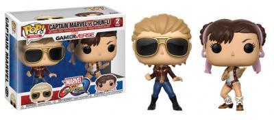 Marvel vs capcom infinite funko pop games captain marvel vs chun li vinyl figure 2 pack 10cm