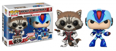 Marvel vs capcom infinite funko pop games rocket vs megaman x vinyl figure 2 pack 10cm