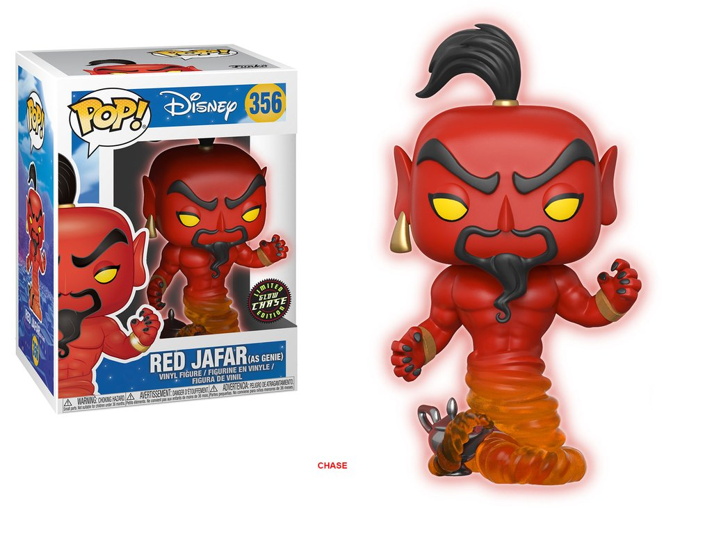 Aladdin disney funko pop jafar red vinyl figure 10cm chase