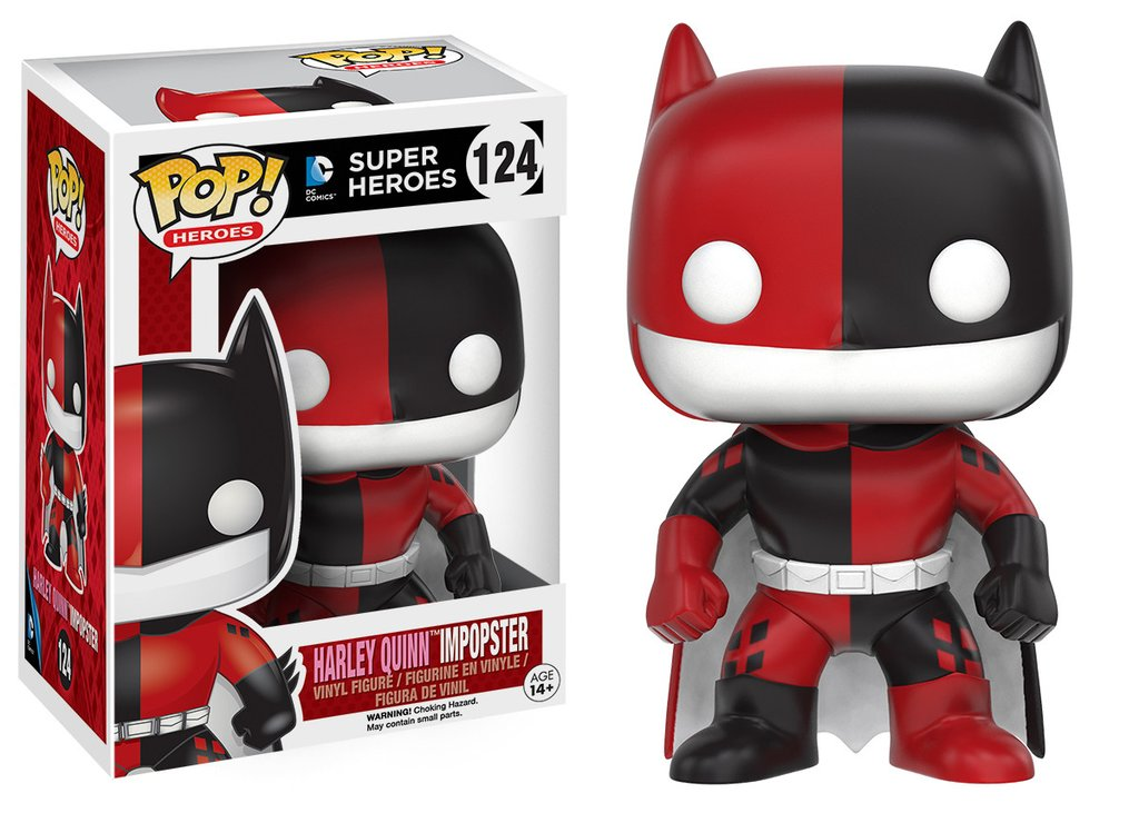 Batman funko pop heroes batman as harley quinn impopster figurine vinyl 10cm