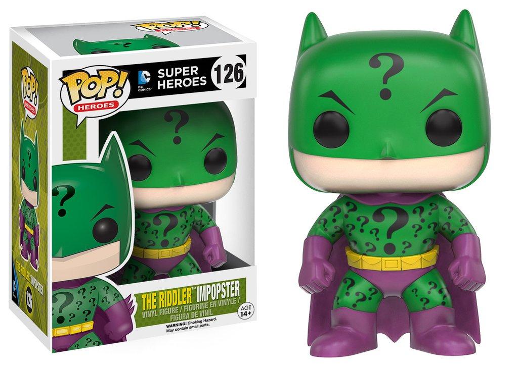 Batman funko pop heroes batman as riddler impopster figurine vinyl 10cm