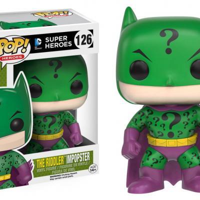 Batman - Funko POP Heroes - Batman as Riddler Impopster  Figurine Vinyl 10cm