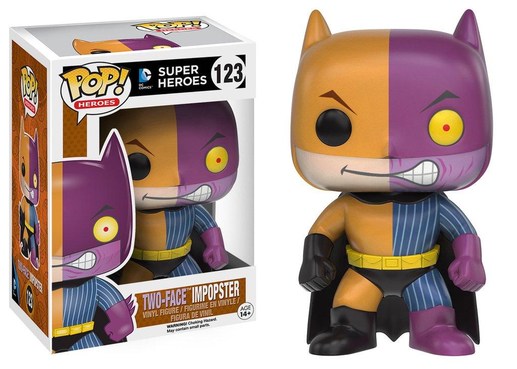 Batman funko pop heroes batman as two face impopster figurine vinyl 10cm