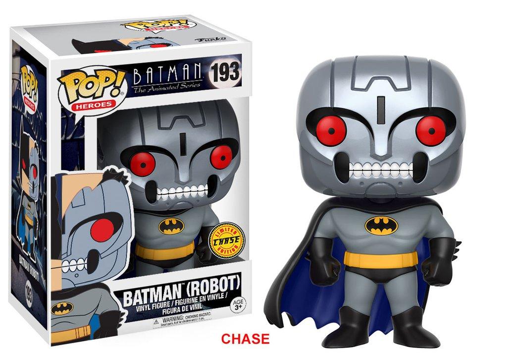 Batman pop heroes animated series batman robot chase 10cm