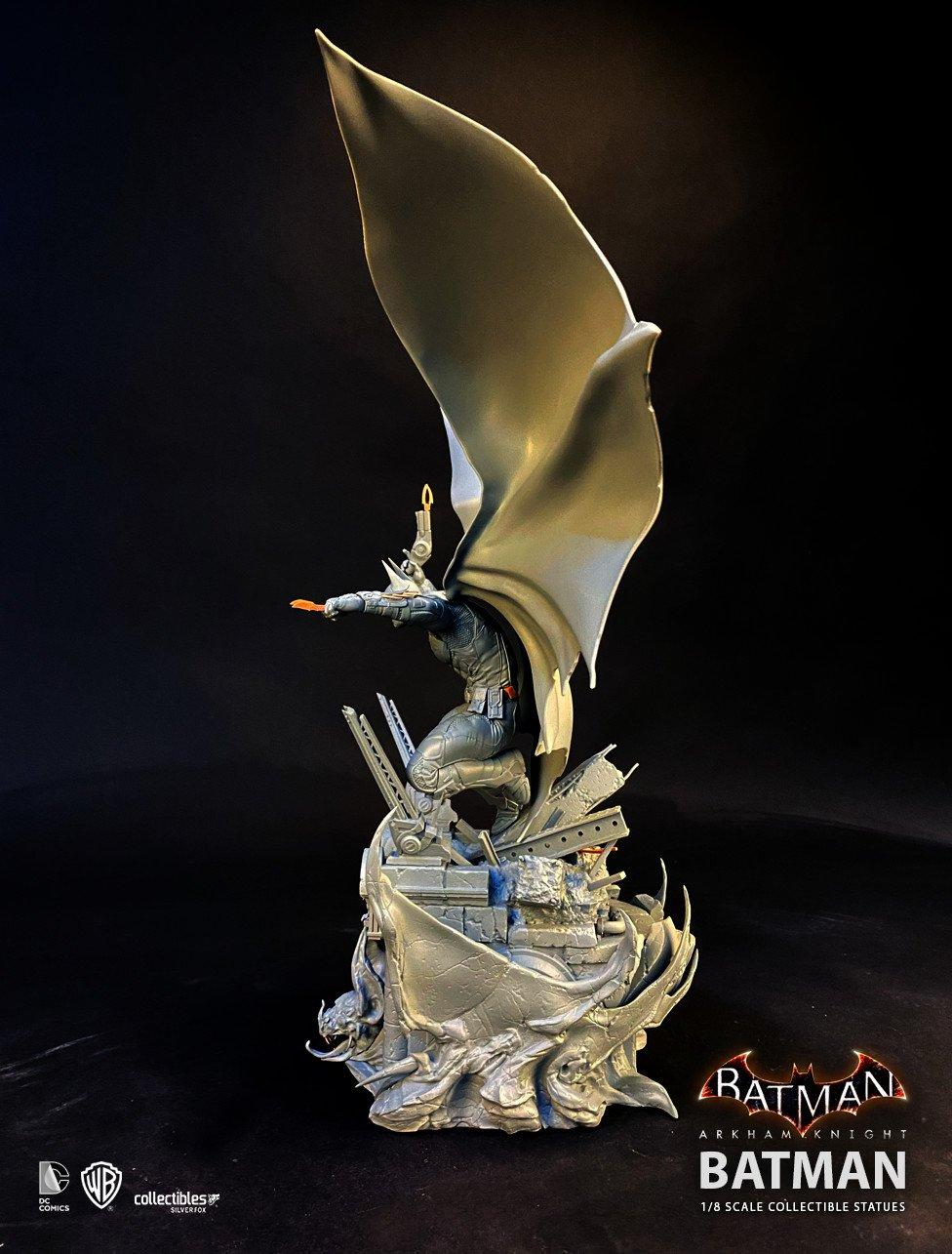 Batman siver fox collectibles batman arkham knight 1 8 scale statue1