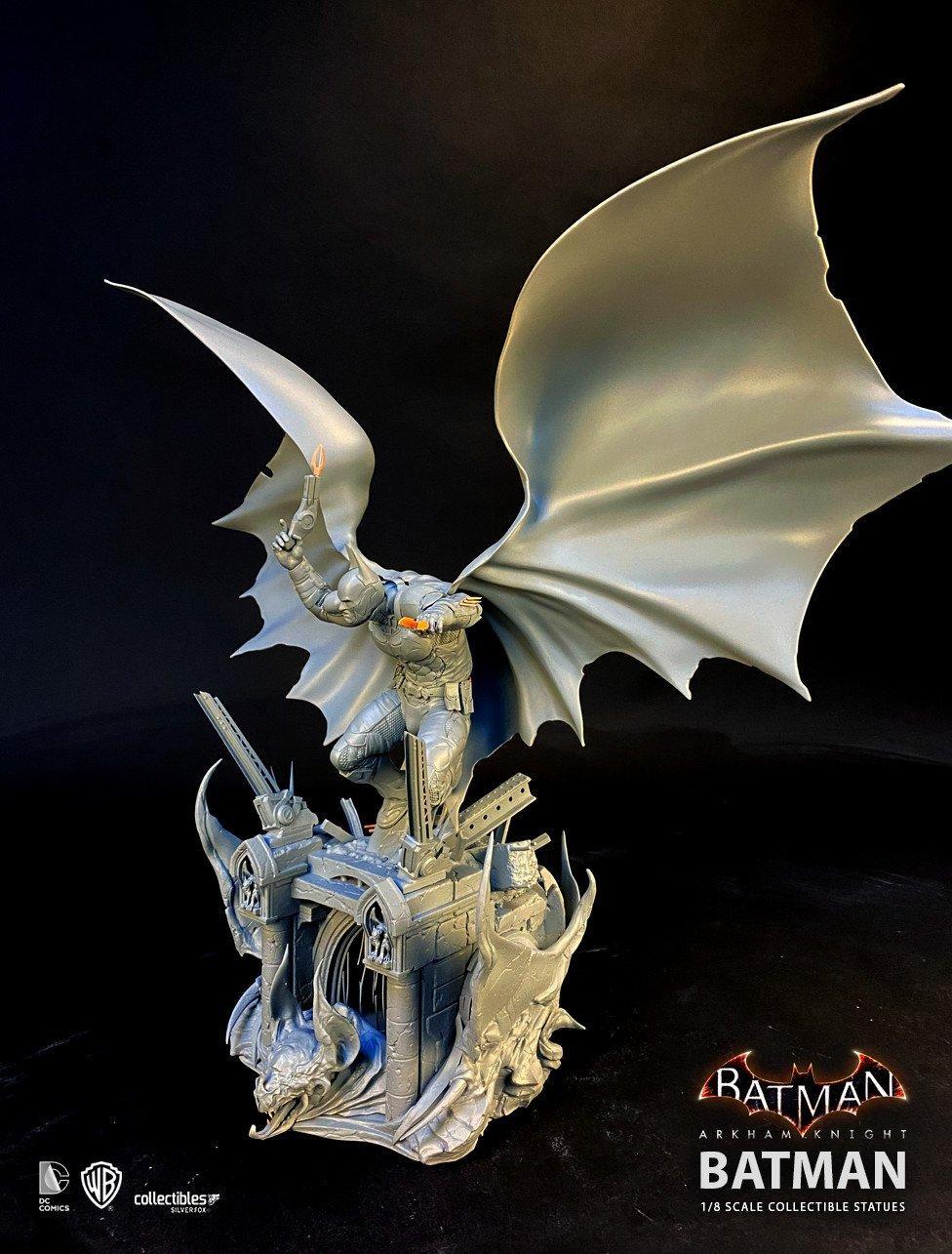 Batman siver fox collectibles batman arkham knight 1 8 scale statue10