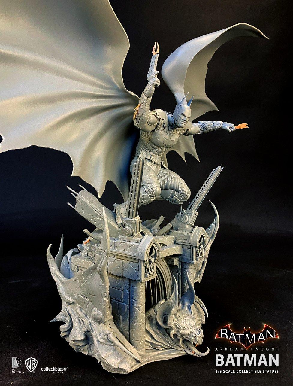 Batman siver fox collectibles batman arkham knight 1 8 scale statue2