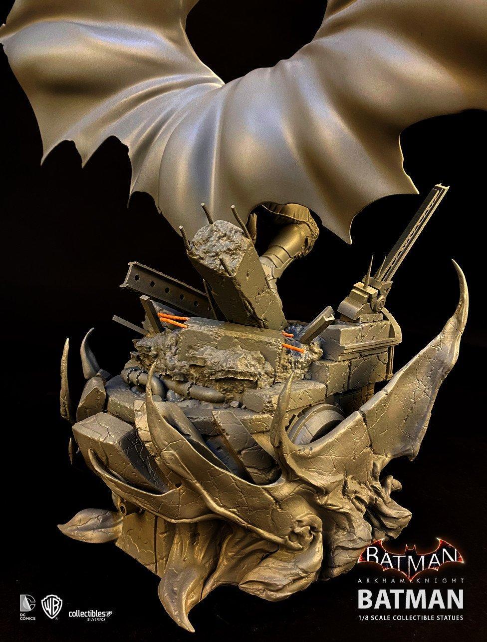 Batman siver fox collectibles batman arkham knight 1 8 scale statue5