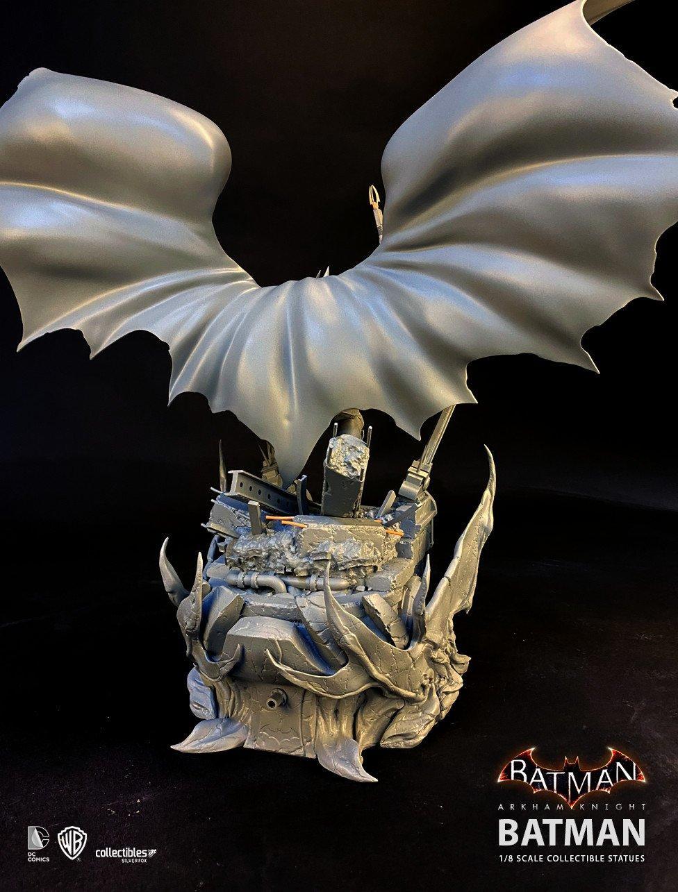 Batman siver fox collectibles batman arkham knight 1 8 scale statue6