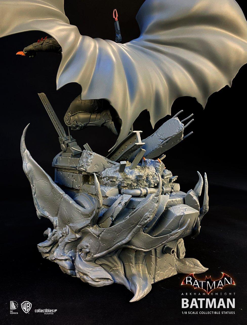 Batman siver fox collectibles batman arkham knight 1 8 scale statue8