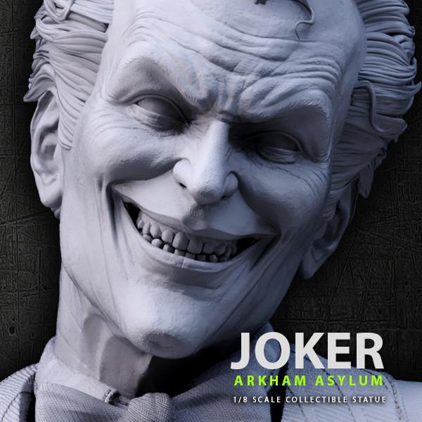 Batman siver fox collectibles joker arkham asylum 1 8 scale statue