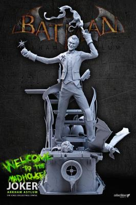 BATMAN - Siver Fox Collectibles - Joker Arkham Asylum 1:8 Scale Statue