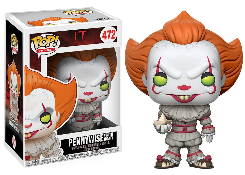 Ca it funko pop movies pennywise with boat vinyl figure 10cm