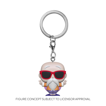 Dbz funko pop keychain master roshi peace sign