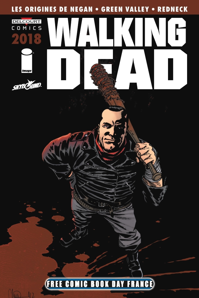 Delcourt free comic book day france 2018 walking dead here s negan green valey
