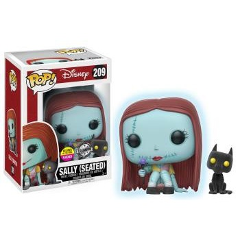 Disney funko pop gitd seated sally with cat vinyl figure 10cm