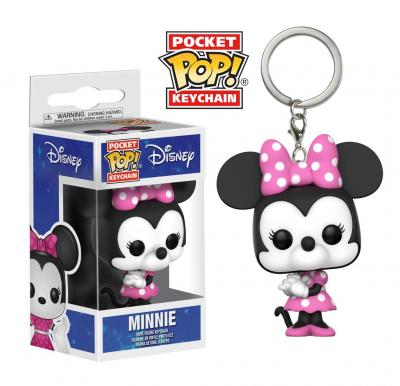 Disney Funko POP Keychains - Minnie Mouse Vinyl Figure 4cm