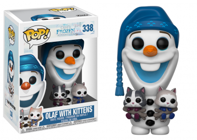 DISNEY Olaf's Frozen Adventure - Funko POP - Olaf with Cats Vinyl Figure 10cm