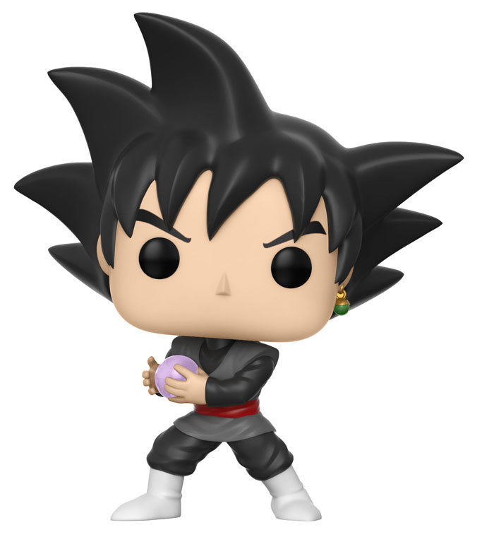Dragonball super figurine pop animation goku black vinyl figure 10cm
