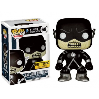 Flash funko pop black lantern reverse flash figurine vinyl 10cm exclusive