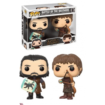 Game of thrones figurine pop jon snow ramsey bolton battle of bastards 2 pack 10cm