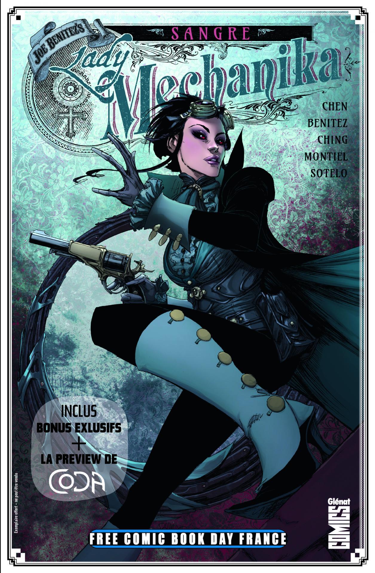 Glenat comics free comic book day france 2020 lady mechanic sangre