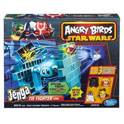 STAR WARS Angry Birds Jenga Tie Fighter Game Hasbro