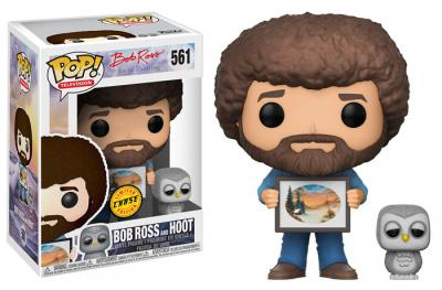 JOY OF PAINTING - Funko POP Television - Bob Ross and Raccoon Vinyl Figure 10cm Chase