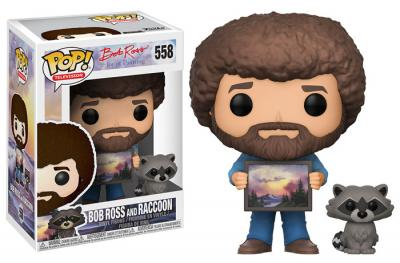 JOY OF PAINTING - Funko POP Television - Bob Ross and Raccoon Vinyl Figure 10cm