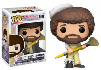 JOY OF PAINTING - Funko POP Television - Bob Ross in Overalls Vinyl Figure 10cm