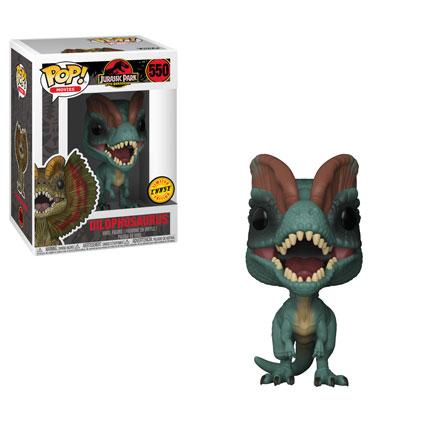 Jurassic park funko pop movies dilophosaurus vinyl figure 10cm chase