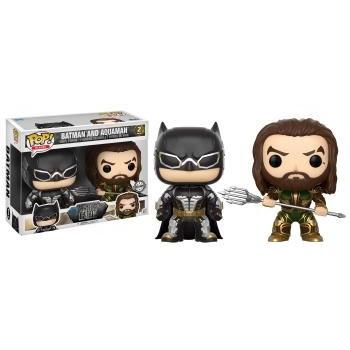 Justice league funko pop heroes batman and aquaman vinyl figures 10cm 2 pack
