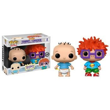 Les razmoket funko pop animation tommy and chucky vinyl figures 10cm 2 pack