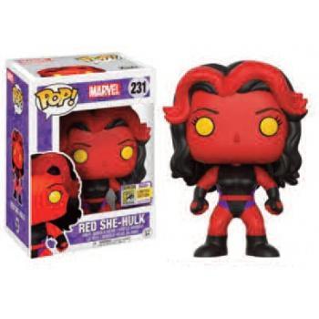 Marvel Funko POP - Red She-Hulk Figure 10cm SDCC 2017 limited