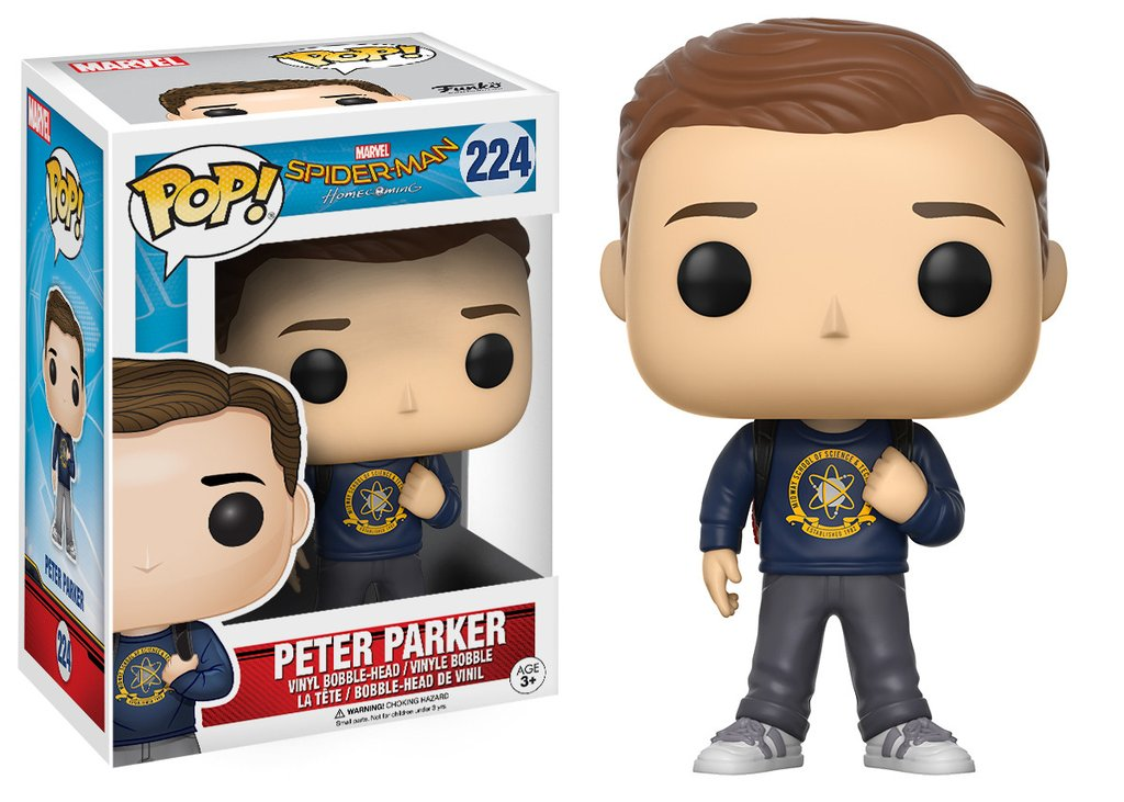 Marvel funko pop spider man homecoming the movie peter parker 10cm
