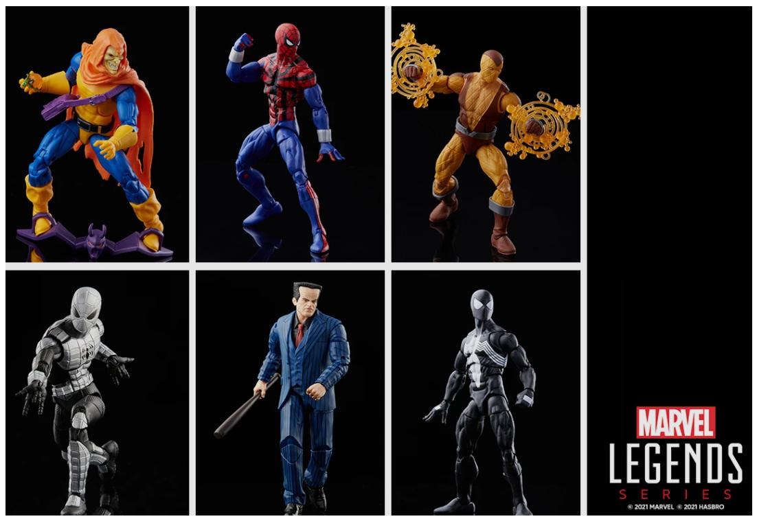 Marvel legends series hasbro spider man collection
