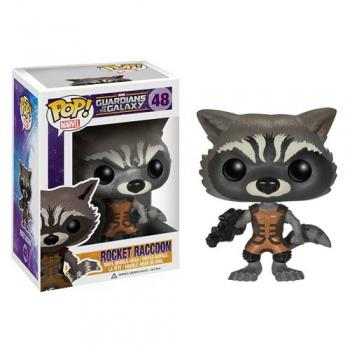 Marvel LES GARDIENS DE LA GALAXIE Figurine POP - Rocket Raccoon 9cm