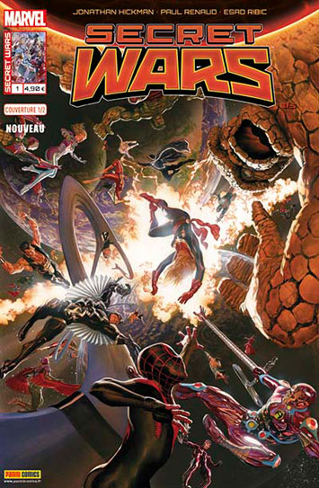 Marvel secret wars 1 couverture 1 2 esad ribic
