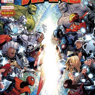 Marvel SECRET WARS 1 - Couverture 2/2 Jim Cheung