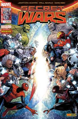 Marvel SECRET WARS 1 - Couverture 2/2 Jim Cheung