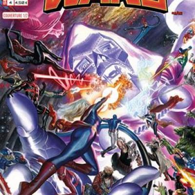Marvel SECRET WARS 4 - Couverture 1/2 Alex Ross