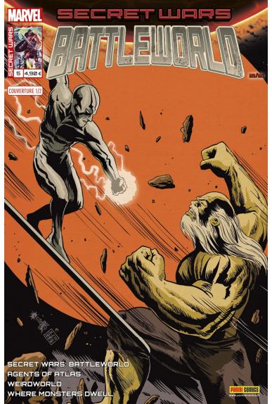 Marvel secret wars battleworld 5 couverture 1 2 francesco francavilla 1