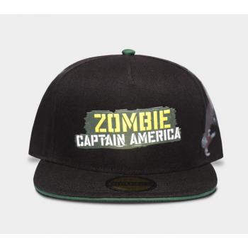 Marvel what if zombie captain america snapback cap