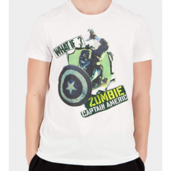 Marvel what if zombie captain america t shirt