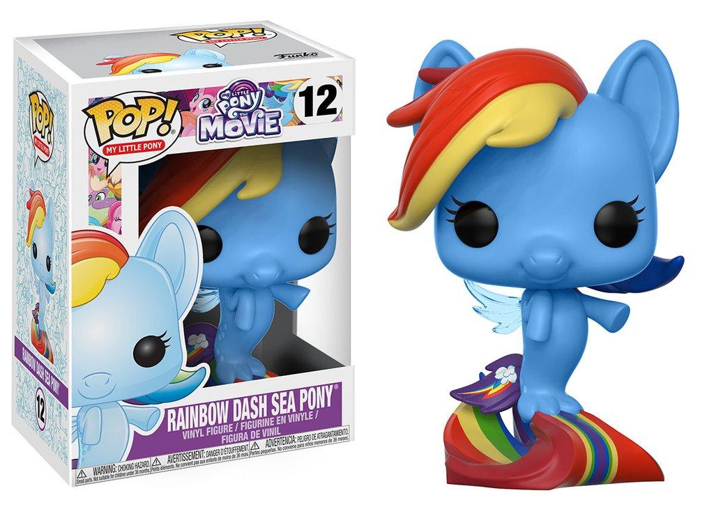 Mon petit poney my little pony funko pop movie rainbow dash sea pony vinyl figure 10cm
