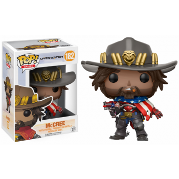 OVERWATCH - Funko POP Games - USA McCree Vinyl Figure 10cm