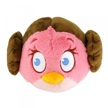 STAR WARS Angry Birds Peluche Leïa 20cm