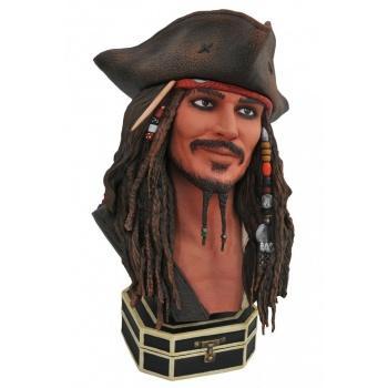 Pirates des caraibes diamond select toys legends in 3d jack sparrow 1 2 buste