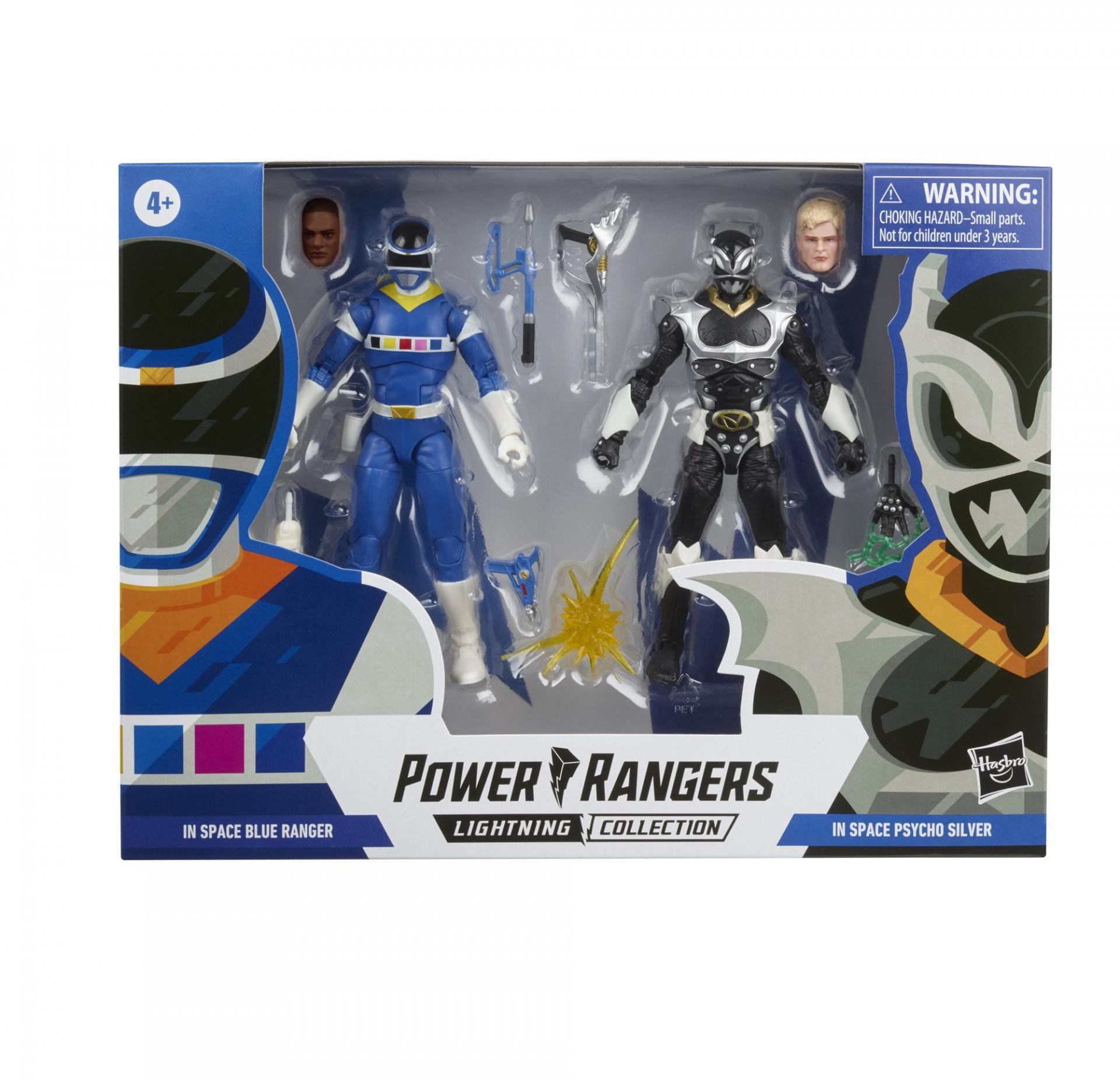 Power rangers lightning collection blue ranger vs silver psycho ranger 15cm