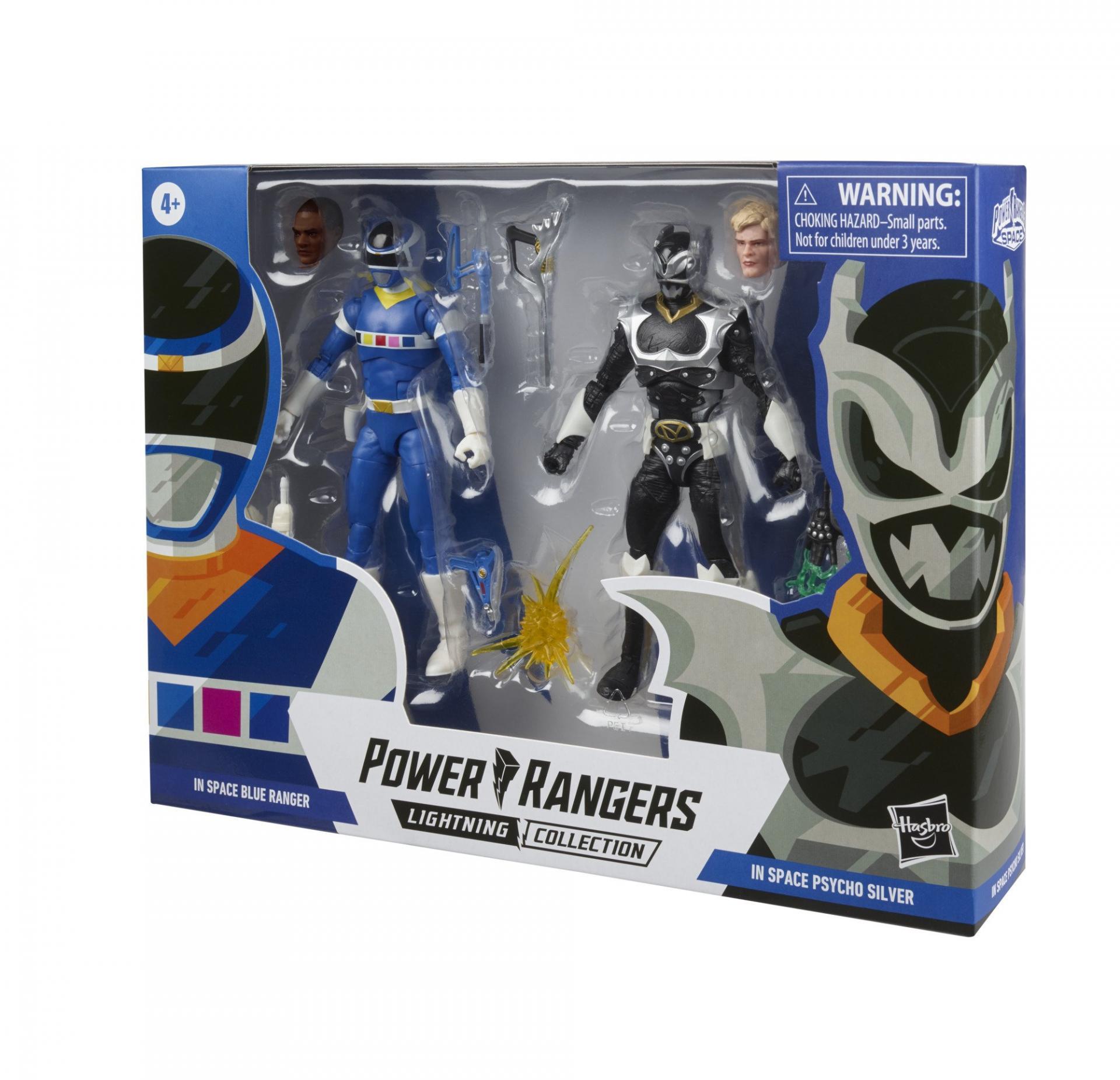 Power rangers lightning collection blue ranger vs silver psycho ranger 15cm1
